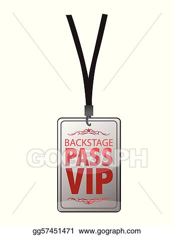 Vector Illustration - Backstage pass vip. EPS Clipart ...
