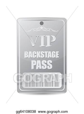 Stock Illustration - Backstage pass vip. Clipart Drawing ...