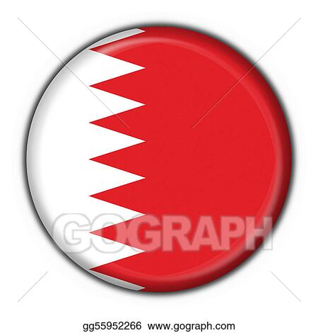 bahrain button flag round shape