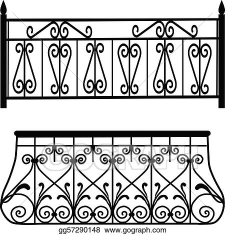 Balcony railing vector joy studio design gallery best for Balcony clipart