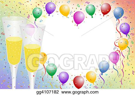 Stock Illustration - Balloon borders. Clip Art gg4107182 - GoGraph