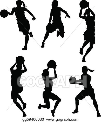 Clip Art Girls Basketball Clipart girls basketball clip art royalty free gograph female women silhouettes
