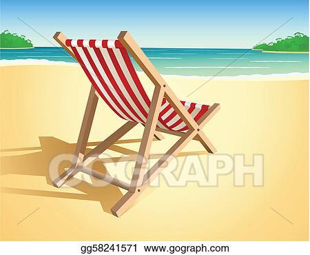 Beach Chair Clip Art Vector Beach Chair  276 Graphics