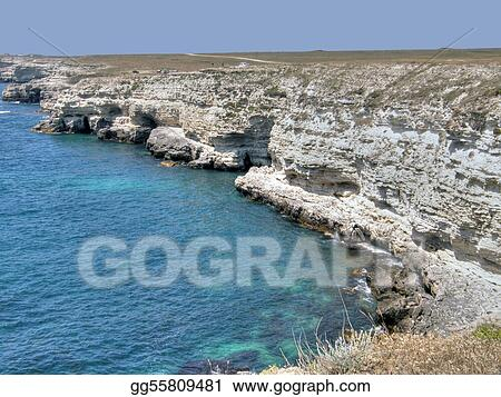 Beautiful sea coast. The western Crimea.