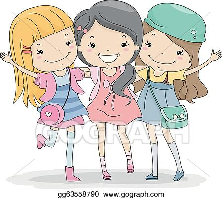 EPS Illustration - Best friends forever. Vector Clipart gg63558790 ...