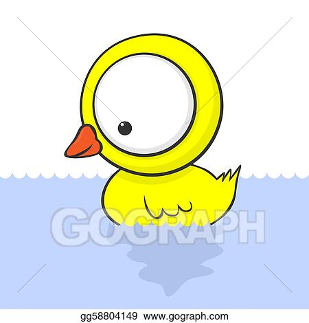 Vector Art - Big-eyed duck. Clipart Drawing gg58804149 - GoGraph
