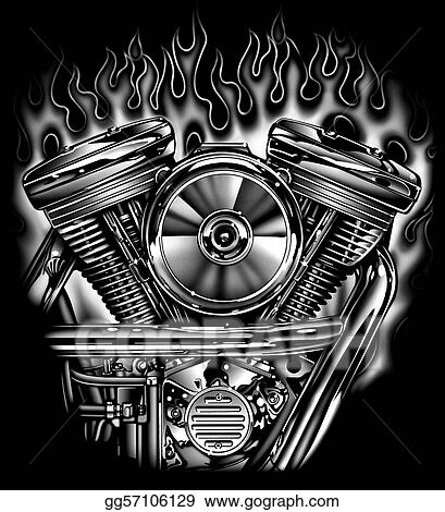 Bike Engine Flames