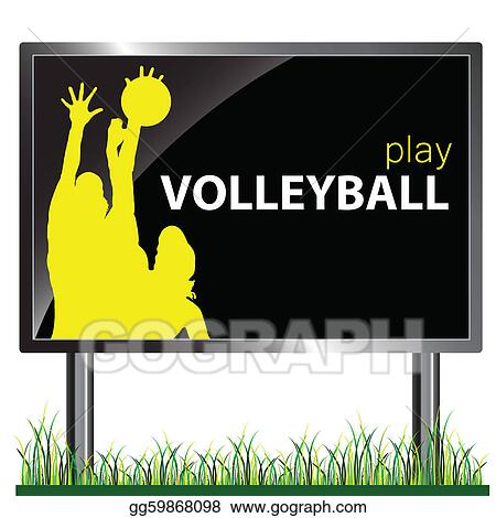 billboard and volleyball illustration