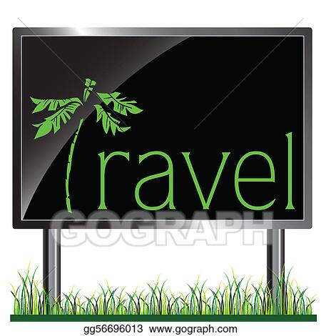 billboard travel vector
