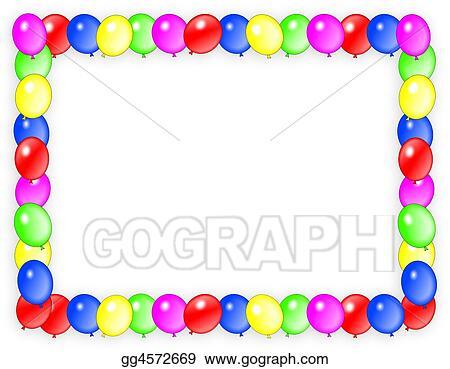birthday invitation balloons frame
