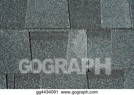 Black asphalt roofing shingles background