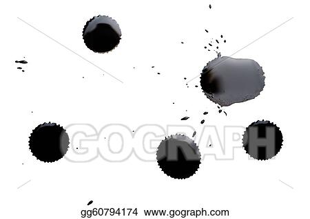black ink spots isolated
