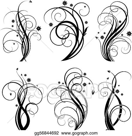 Black swirl design