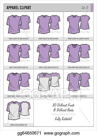 EPS Illustration - These blank apparel clipart templates are great for ...