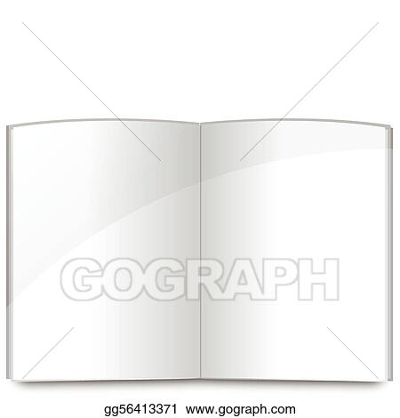 Vector Illustration - Blank book pages template. EPS Clipart ...
