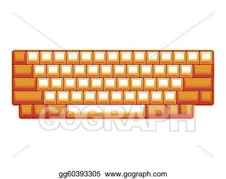 ... computer keyboard layout - realistic illustration. Stock Illustration
