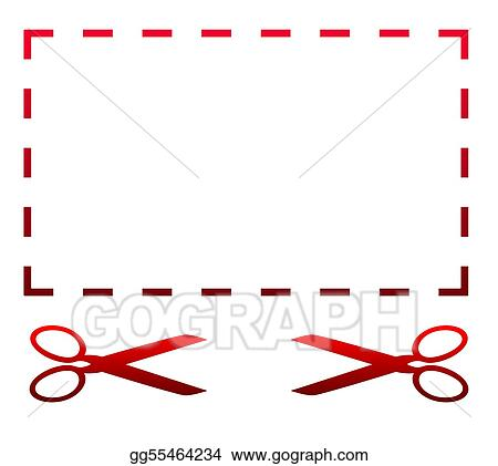 Blank coupon and scissors
