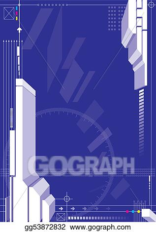 Blue Color 3D Structure