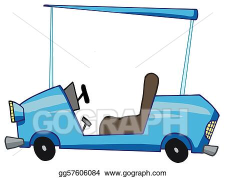 Cartoon Golfer Driving...
