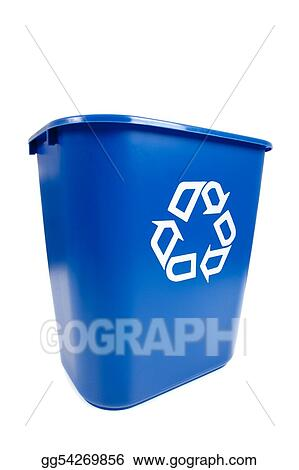Blue Recucle BIn - Recycling, Environmental theme