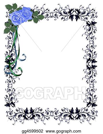 Rose Clip Art Black And White Border Images & Pictures - Becuo