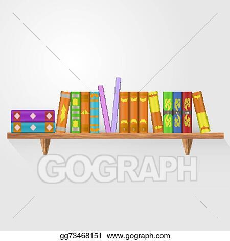 EPS Illustration - Book shelf. vector illustration. bookstore ...