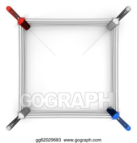 Stock Illustration - Boxing ring top view. Clipart Drawing ...  Stock Illustrat...
