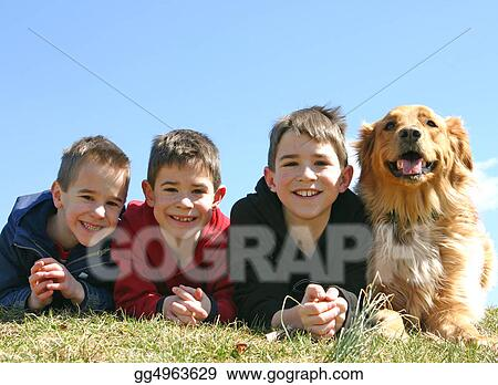 Boys and a Dog