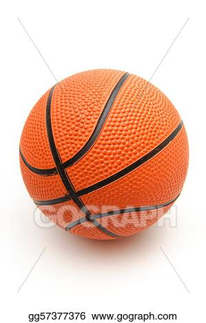 Bright orange basketball ball on a white background