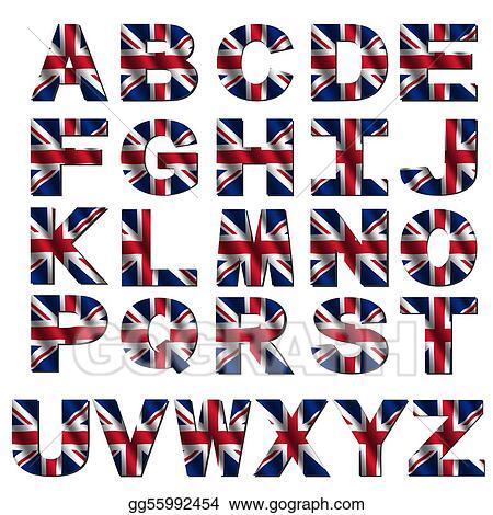 Stock Illustration - British flag font. Clip Art gg55992454 - GoGraph