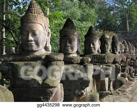 Buddha Face Sculptures, Cambodia 