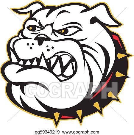 Drawing - Bulldog mongrel dog head angry. Clipart Drawing ...