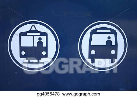 bus and light rail symbols