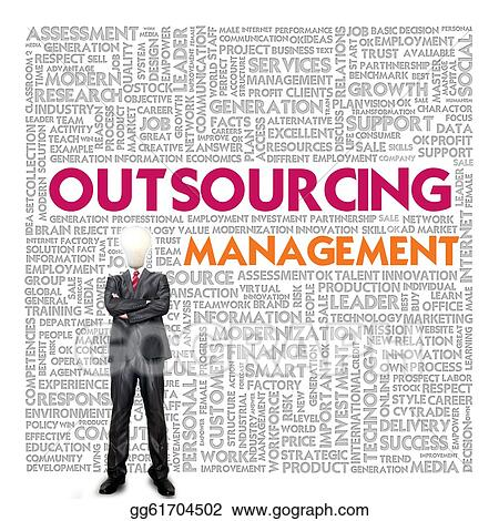 Cloud for business concept outsourcing stock illustration gg61704502