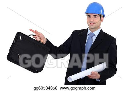 businessman going on a construction site