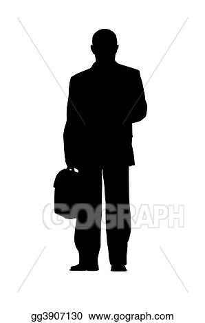 businessman silhouette isolated