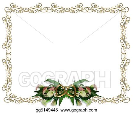 Calla Lilies Border Wedding invitation