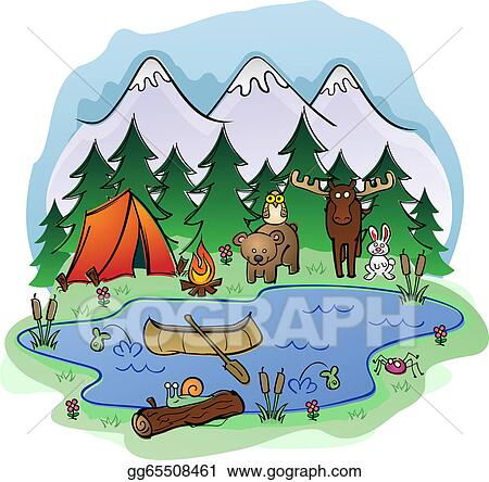 Camp Clip Art - Royalty Free - GoGraph