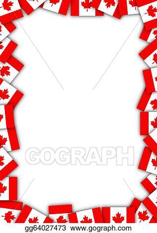 Clip Art - Canada flag border. Stock Illustration gg64027473 - GoGraph