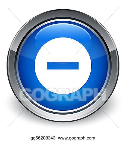 Drawings - Cancel icon glossy blue button. Stock ...