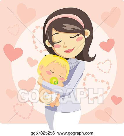 Vector Art Caring Mother Clipart Drawing Gg57825256