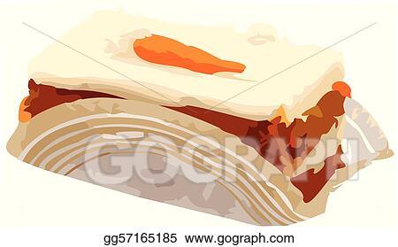 Clipart - Carrot Cake Slice vector Illustration. Stock ...