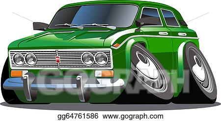 Stock Illustration Cartoon Car Clipart Gg64761586