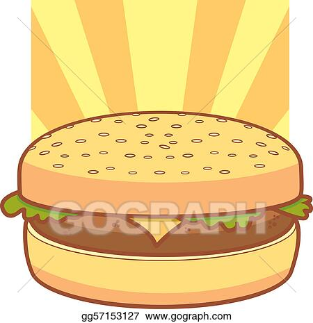 Vector Stock - Cartoon cheeseburger. Clipart Illustration ...