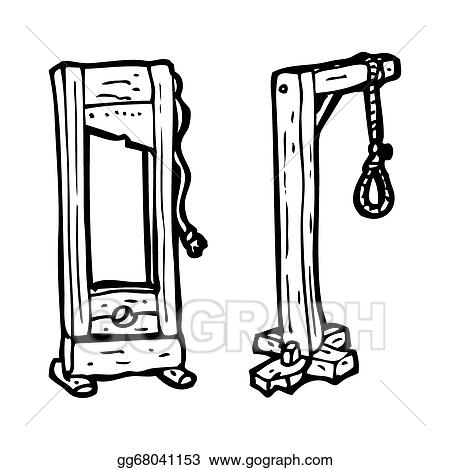 Stock Illustration - Cartoon guillotine and gallows. Clipart ...