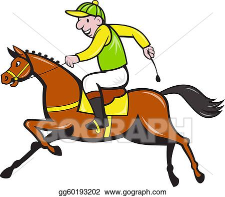 Image Gallery Jockey Drawing