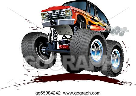 Vector Art - Cartoon monster truck. Clipart Drawing gg65984242 ...