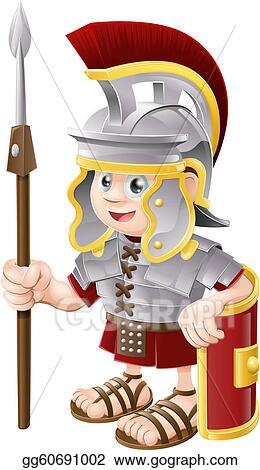 Vector Stock - Cartoon roman soldier. Stock Clip Art gg60691002 ...