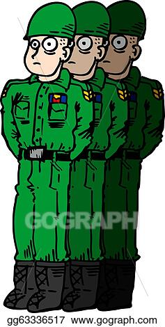 Vector Stock - Cartoon soldiers. Clipart Illustration gg63336517 ...