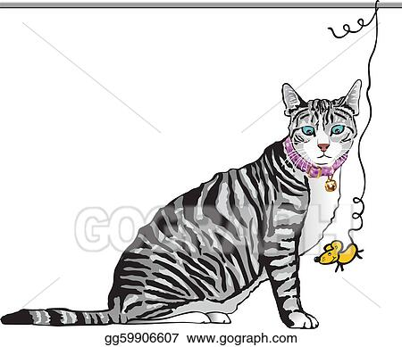 Vector Art - Cat and mouse. Clipart Drawing gg59906607 - GoGraph